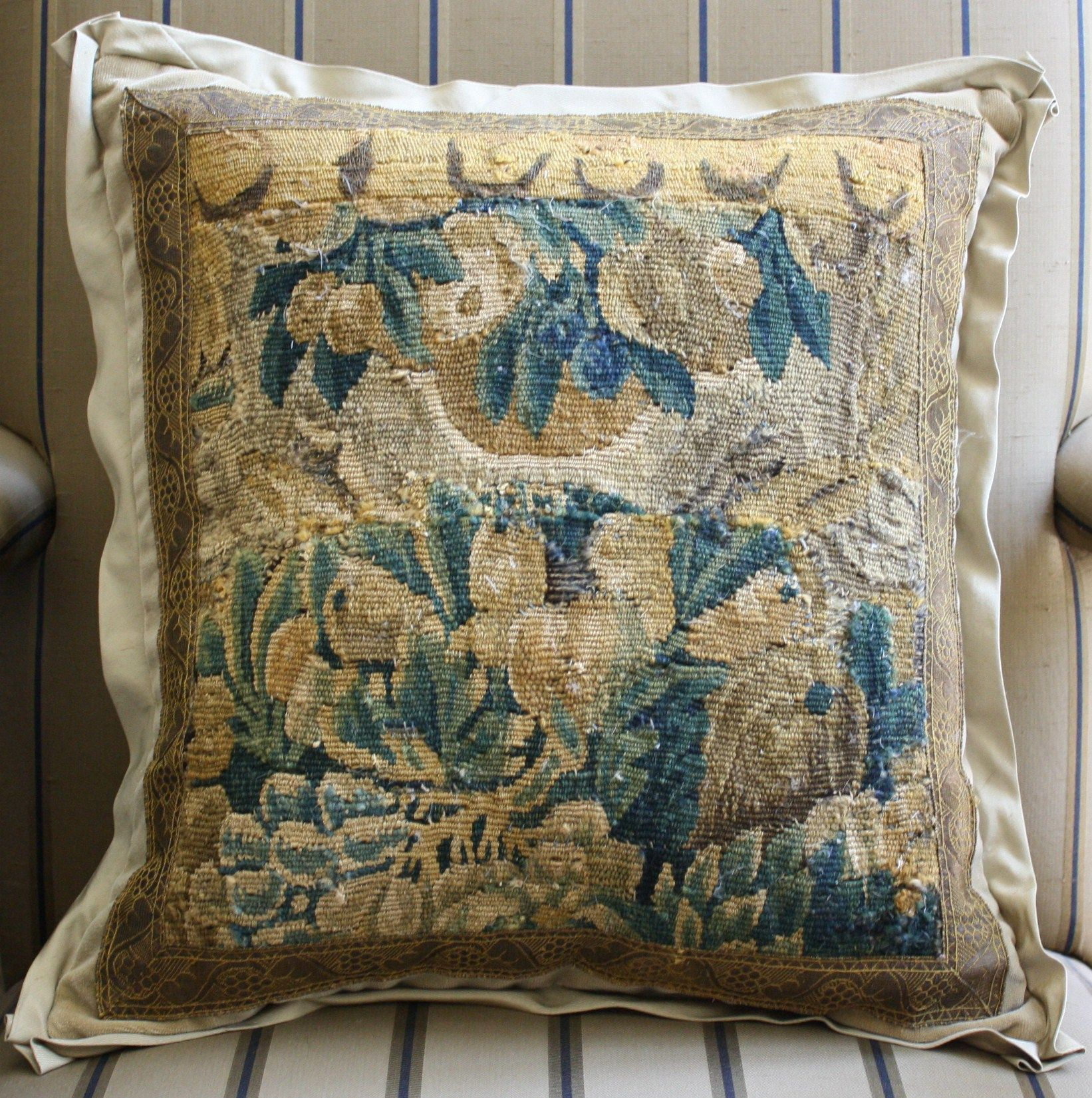 18th C Flemish Tapestry Pillow By E Alexander Designs E