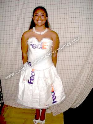 Coolest homemade fedex mail order bride costume sciox Choice Image