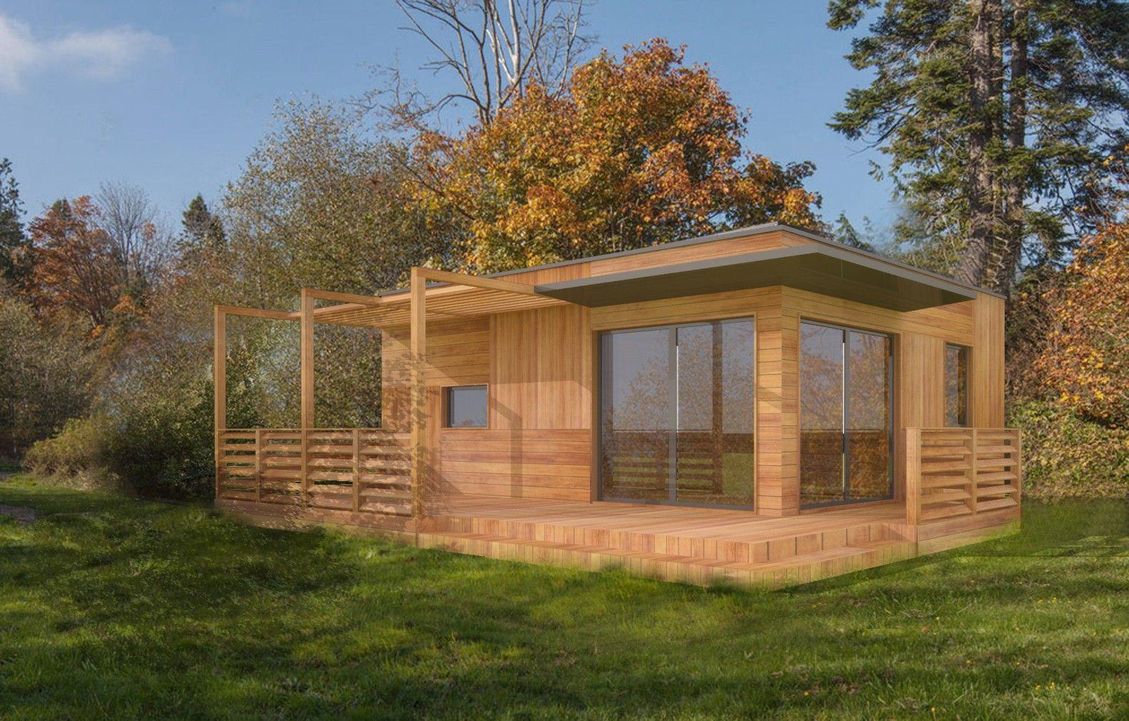 Plan Studio 35m2 Cle En Main Chalet En Bois Habitable Maison
