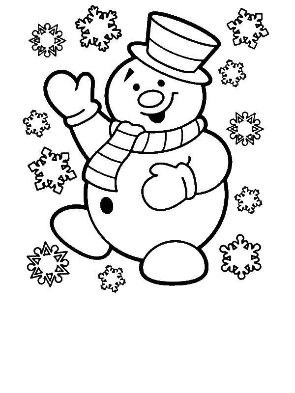 Coloring Games For 3 Year Olds Easy Drawing For 4 Year Olds At Getdrawings Snowman Coloring Pages Printable Christmas Coloring Pages Coloring Books