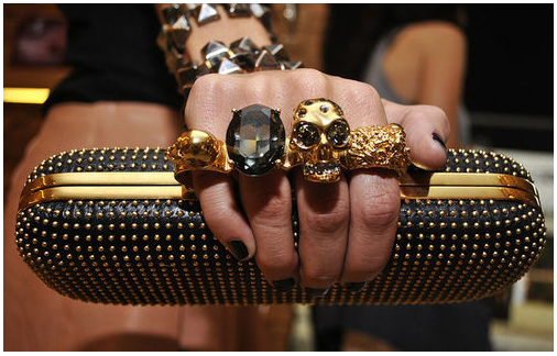 gold skull rings images