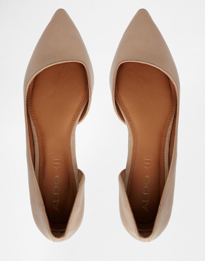 16e8fbe789d ALDO Dealia Nude Pointed Flat Shoes | ASOS | $49 | | work wardrobe ...