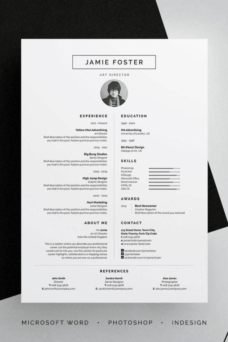 Professional Resume Cv Resume Design Creative Graphic Design Cv Creative Cv