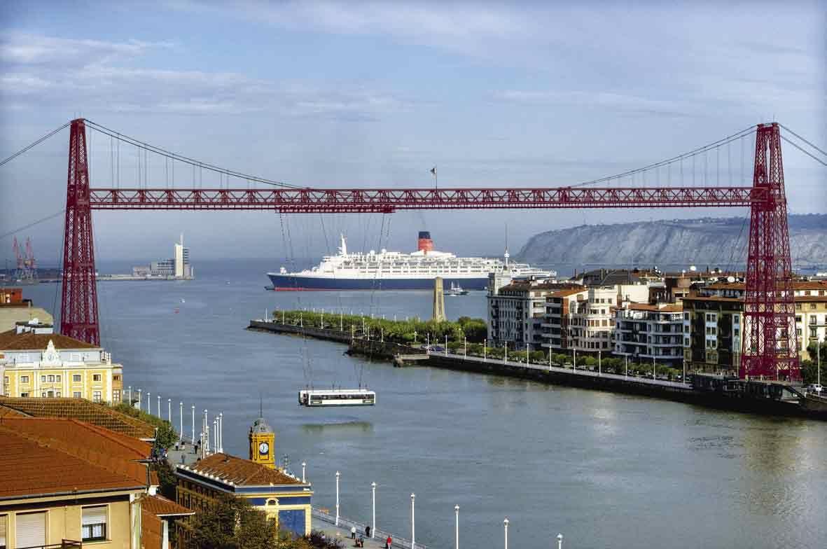 El puente colgante de portugalete vizcaya 28 de julio de for El jardin portugalete
