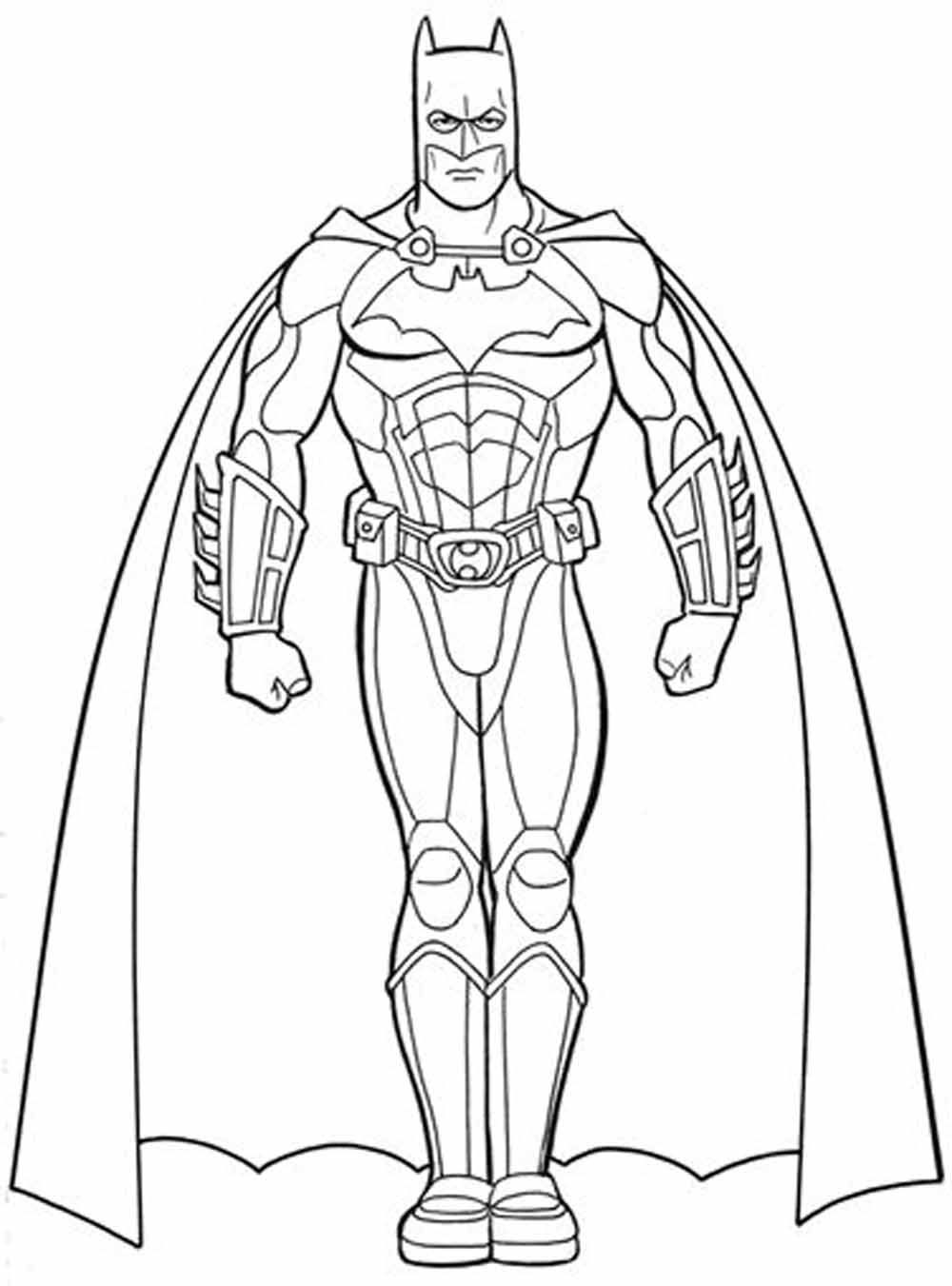 Coloring Free Coloring Page Batman At Printable Pages with Batman ...