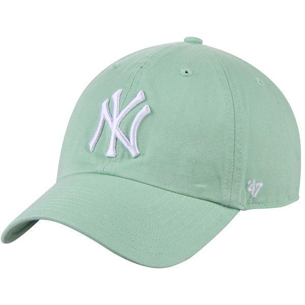 c85e645a3db Men s New York Yankees  47 Green Home Big Logo Clean Up Adjustable ...