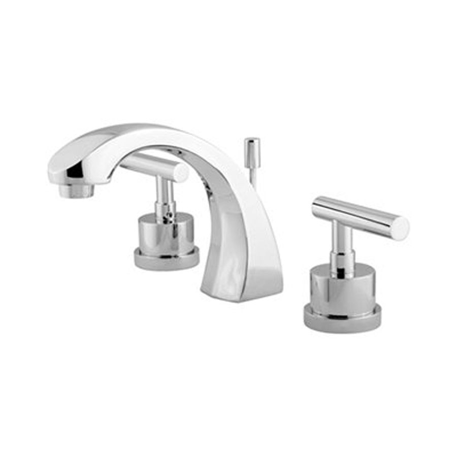 Elements Of Design Manhattan Polished Chrome 2 Handle Widespread Bathroom Faucet Drain Included