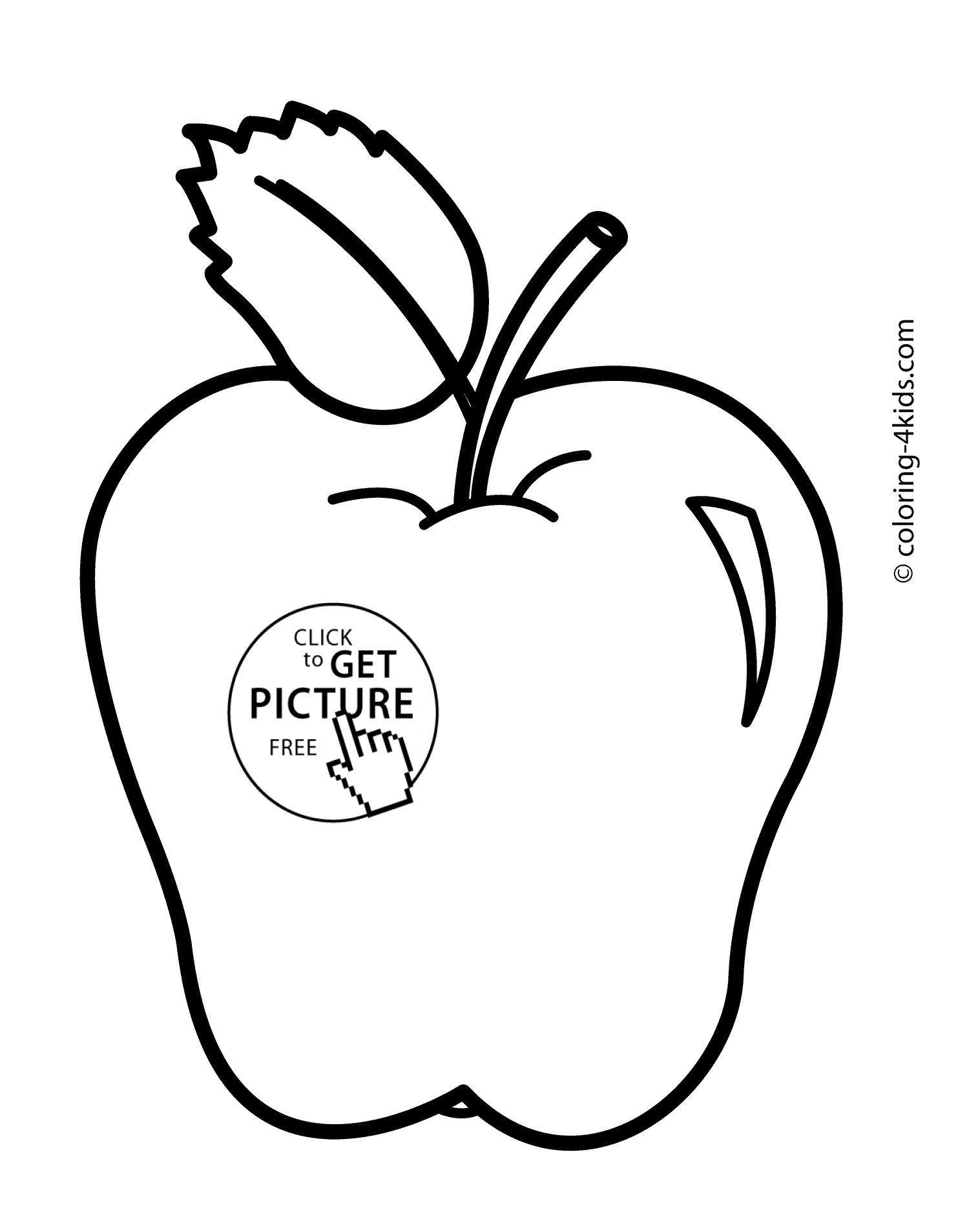 51 Apple Coloring Page For Toddlers Apple Coloring Pages Leaf Coloring Page Fruit Coloring Pages