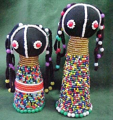 Toys From Africa : Beaded african tribal dolls africa pinterest