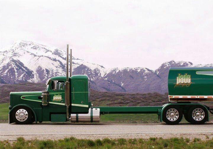 Dam That S A Long Frame Big Trucks Big Rig Trucks Peterbilt Trucks