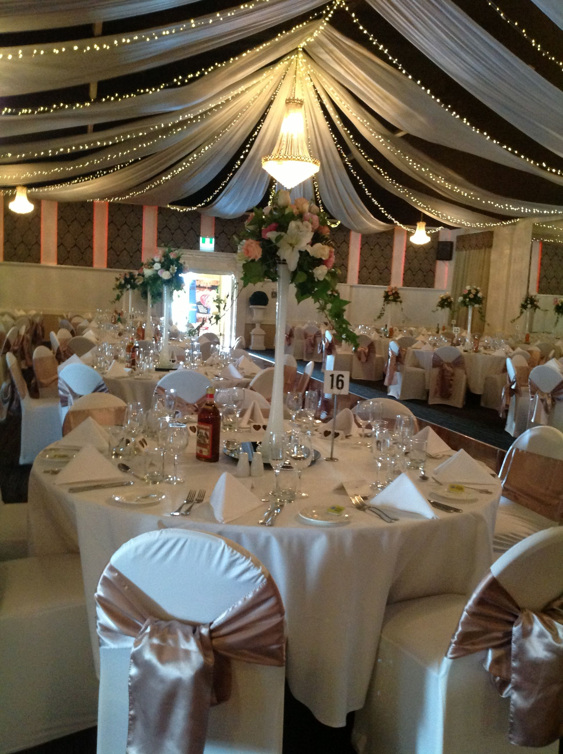 Adelaide Wedding Reception Decor With Chair Covers Centrepieces