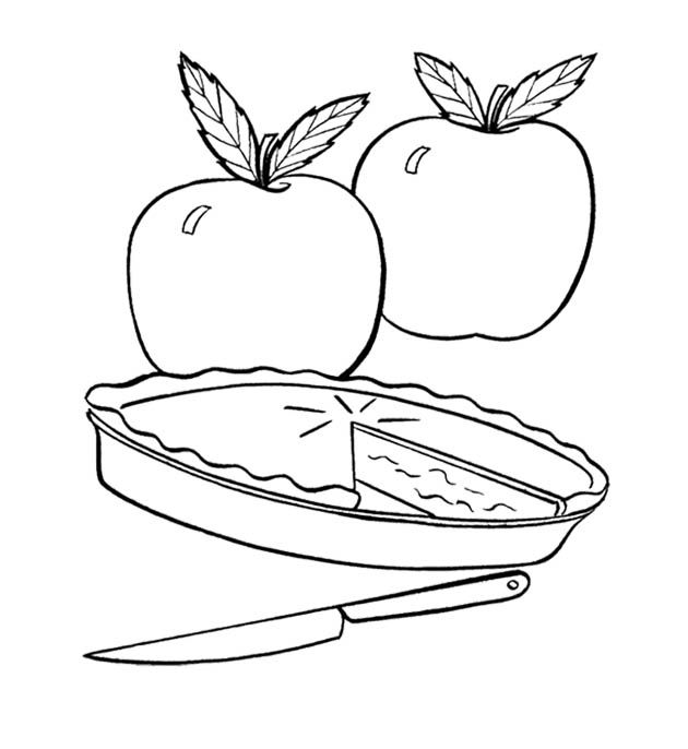 Coloring Pages Apple Pie : Fresh apple pie coloring page for kids action man