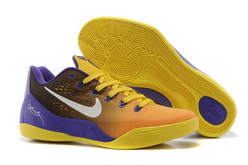 Nike Zoom Kobe 9 Low Yellow Purple White