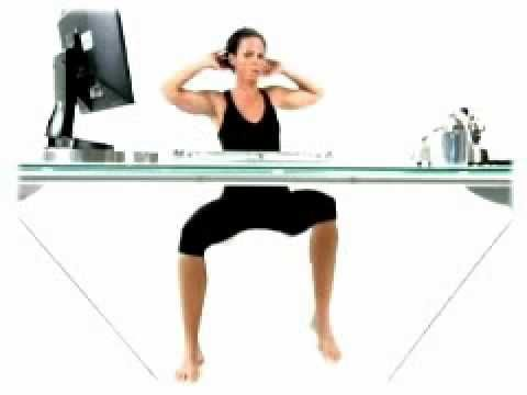 Ab Workouts While Sitting At A Desk Good Ideas For Short Break Work