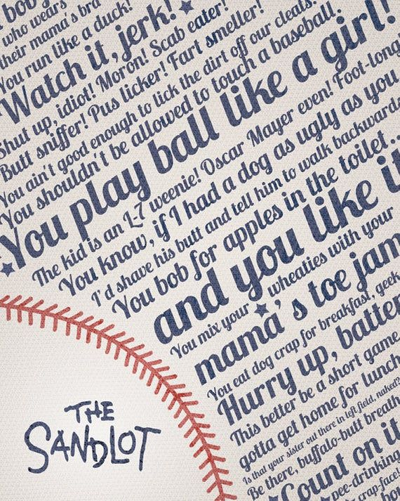 Sandlot Quote Print   Insults