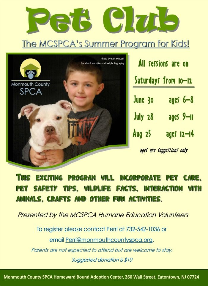 Page Not Found Monmouth County Spca Wildlife Facts Pet Safety Summer Programs For Kids