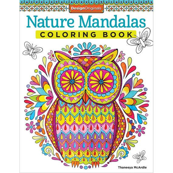 Design Originals Nature Mandalas Coloring Book Experience A Printed On High Quality