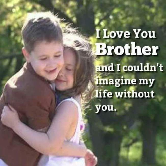 I Love You Brother I Love You Brother Brother N Sister Quotes I Love My Brother