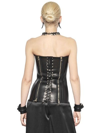 e64bcc3945d NAPPA LEATHER BUSTIER TOP