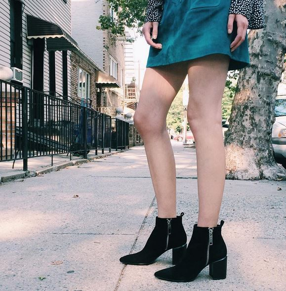 Gorgeous black suede pointed toe booties by @shopdolcevita #heelboy #fallarrivals