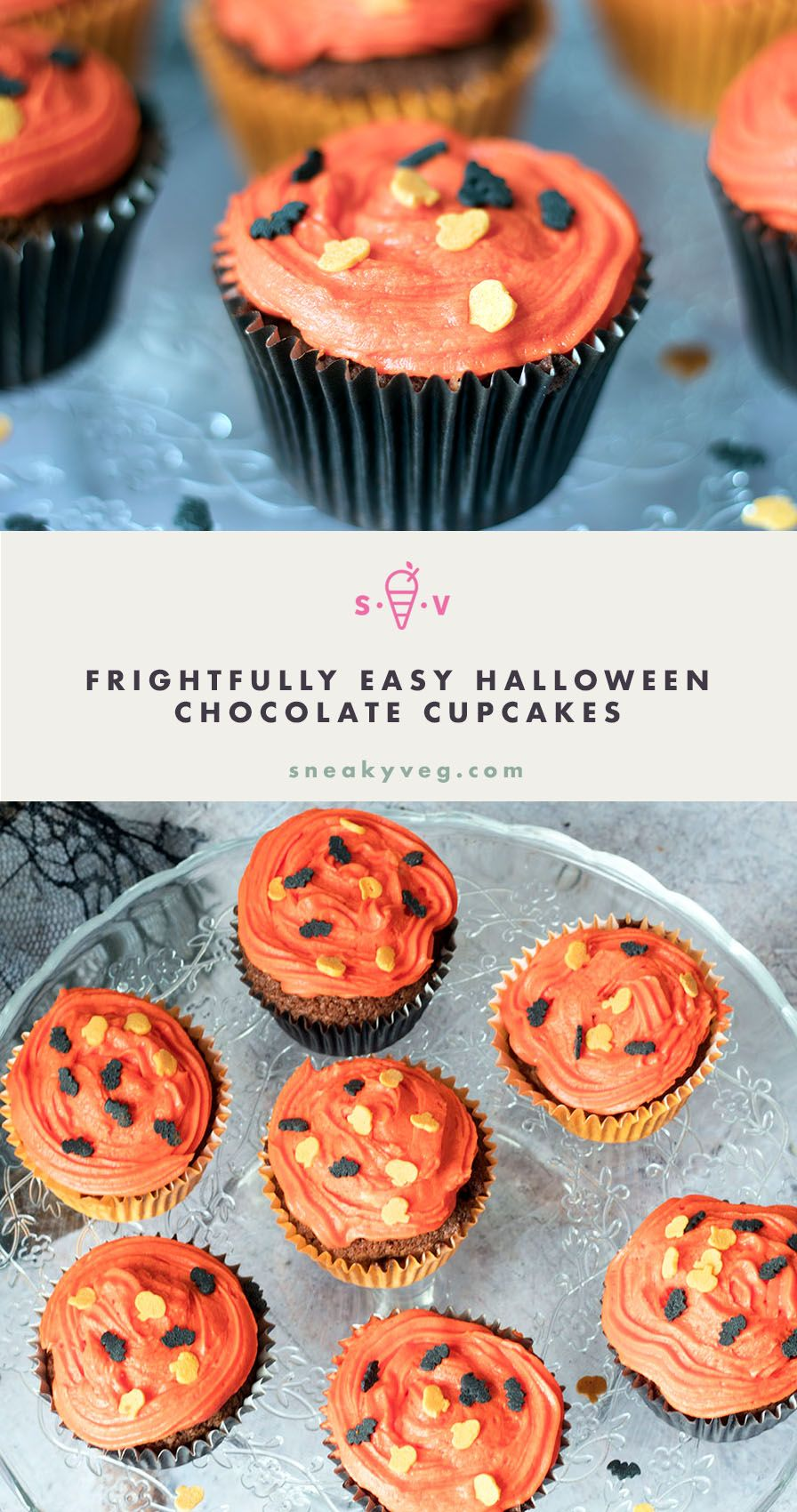 easy halloween chocolate cupcakes