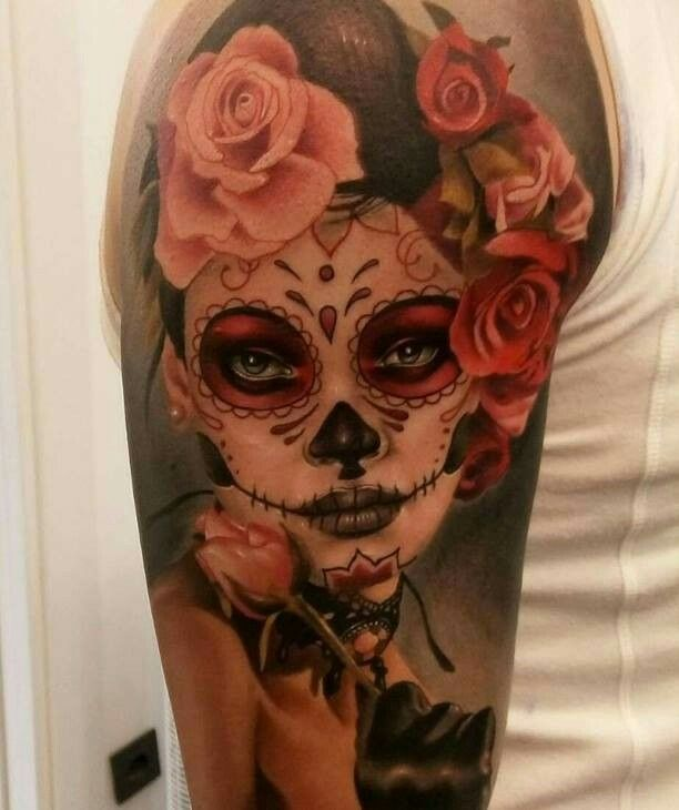 6f052e400 Celebrate Life and Death With These Awesome Day of the Dead Tattoos - KickAss  Things