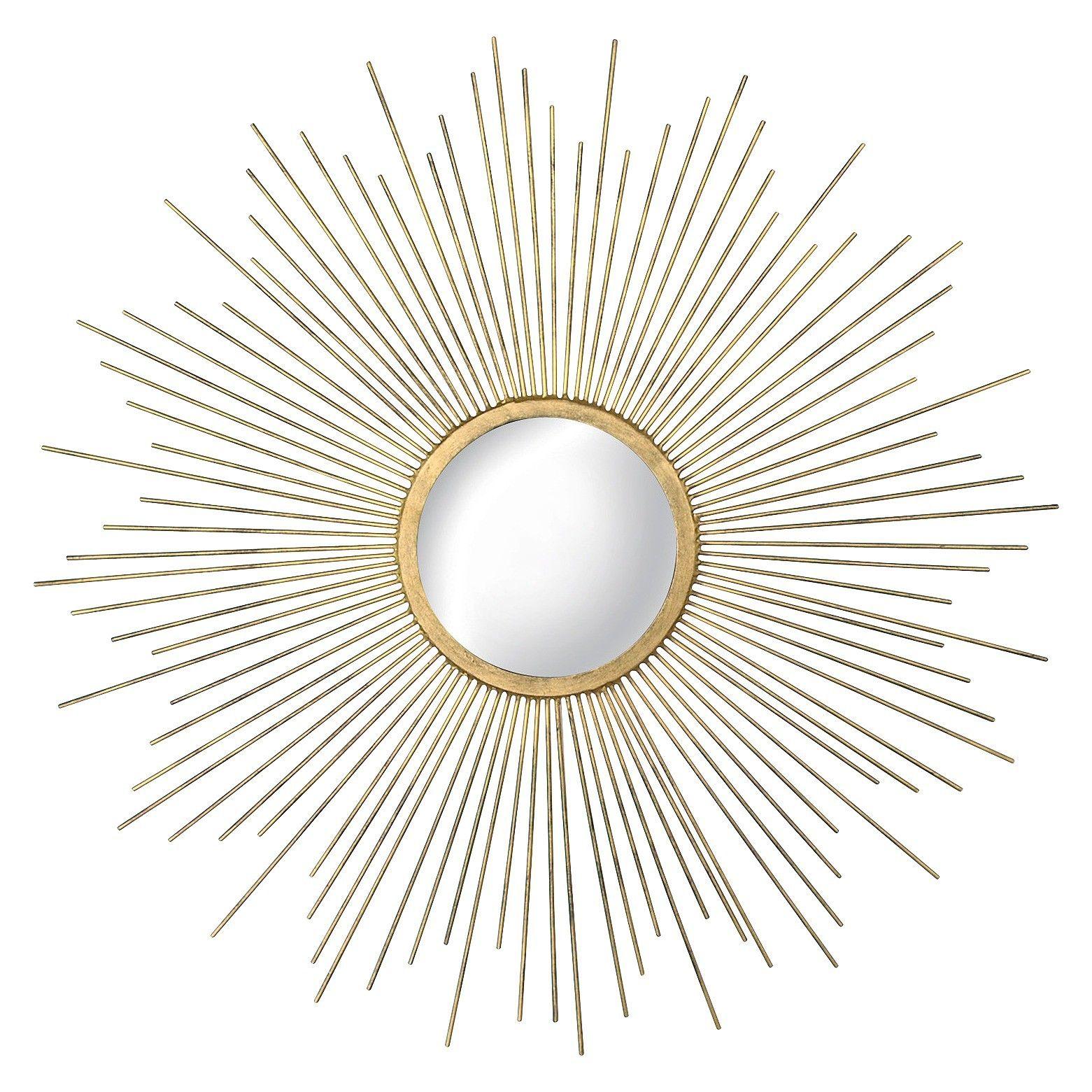 Wire capiz sunburst wall mirror - Metal Sunburst Mirror Aged Gold Target
