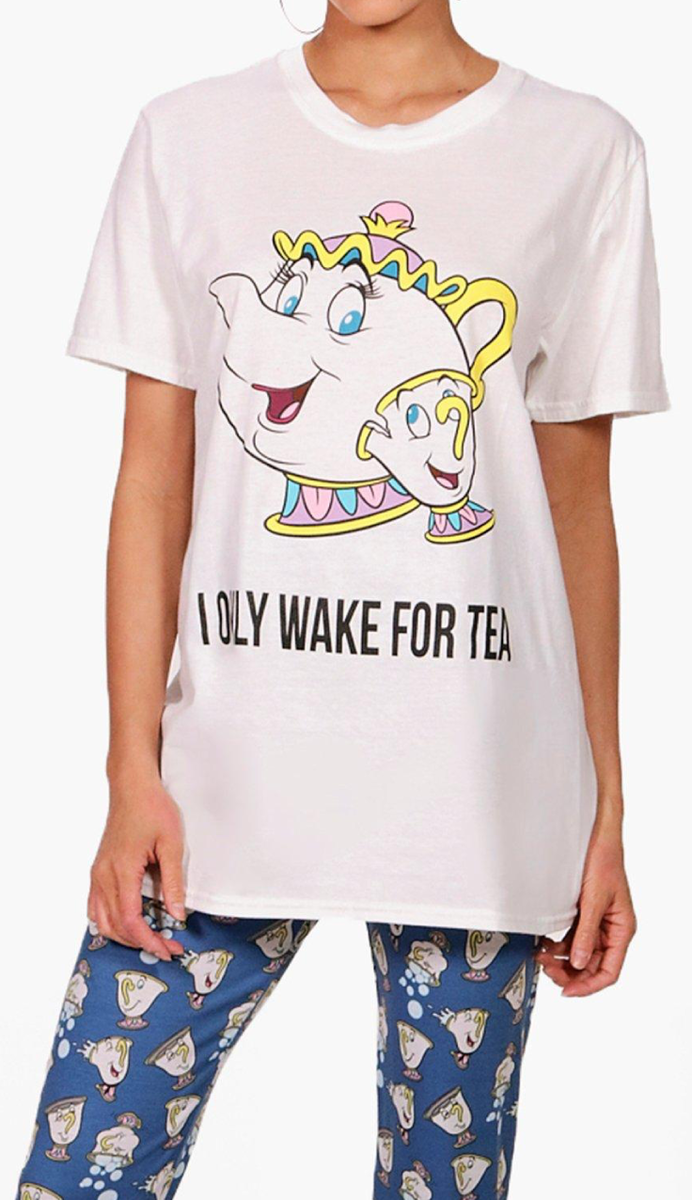1216559170 Chip & Mrs Potts Beauty and the Beast Ladies Pyjamas £18 Delivered ...