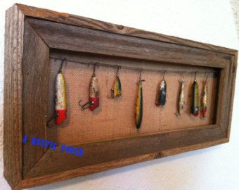 Rustic Fishing Lure Display Case - Edit Listing - Etsy | Fishing decor, diy, and info | Fishing ...