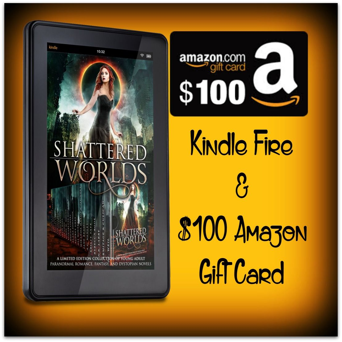 Win A Brand New Kindle Fire And A 100 Amazon Gift Card Amazon Gift Cards Amazon Card Gift Card