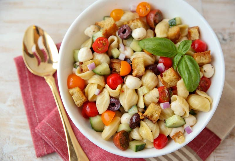 Best pasta salad ever panzanella pasta salad the daily for Best summer pasta salad recipes ever