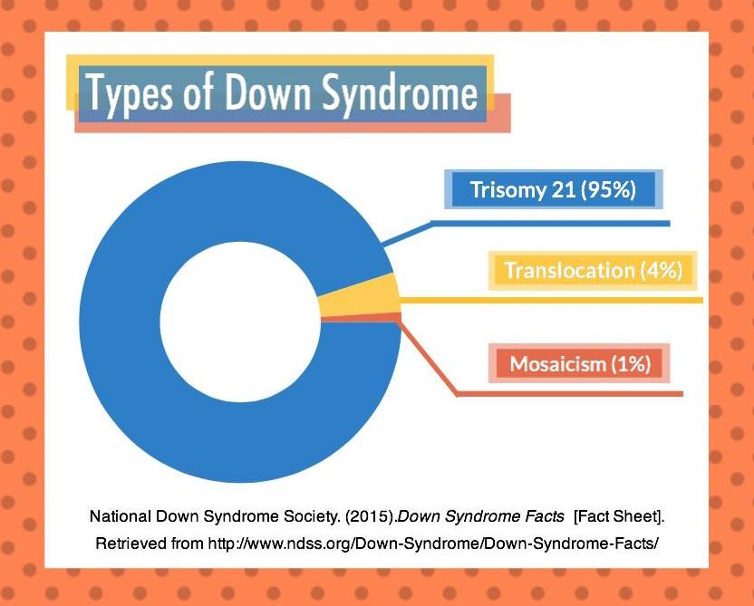 There Are 3 Types Of Down Syndrome Trisomy 21 Translocation And