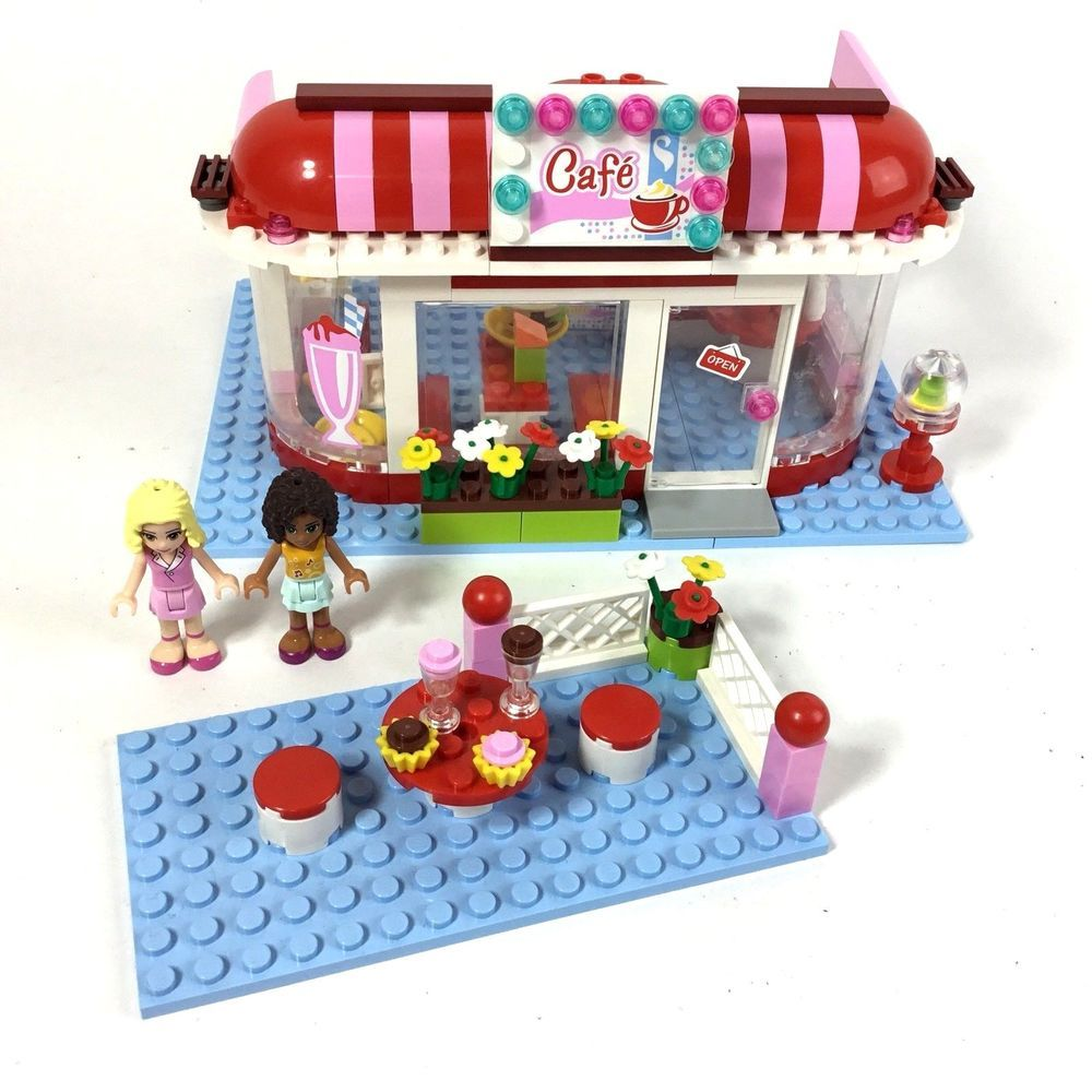 Genuine Lego Friends City Park Cafe 3061 Set Near Complete W