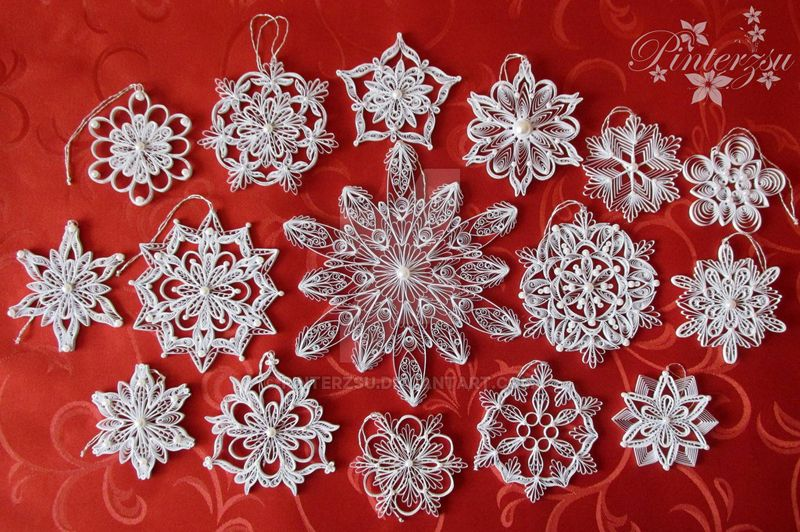 Kvilling Cvetochki Hae Kyoung Kim Sees All Colors Livejournal Quilling Christmas Quilling Patterns White Christmas Ornaments