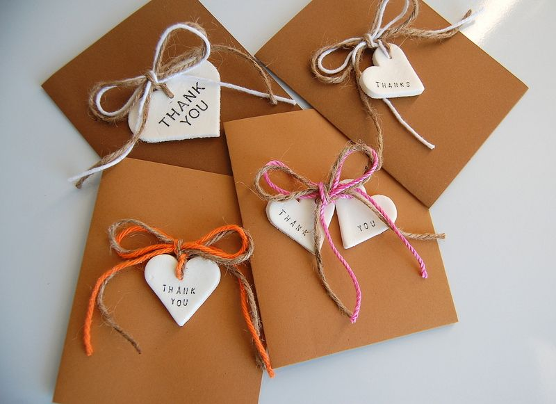 Rustic DIY Thank You Cards | Homemade, Napkin holders and Child