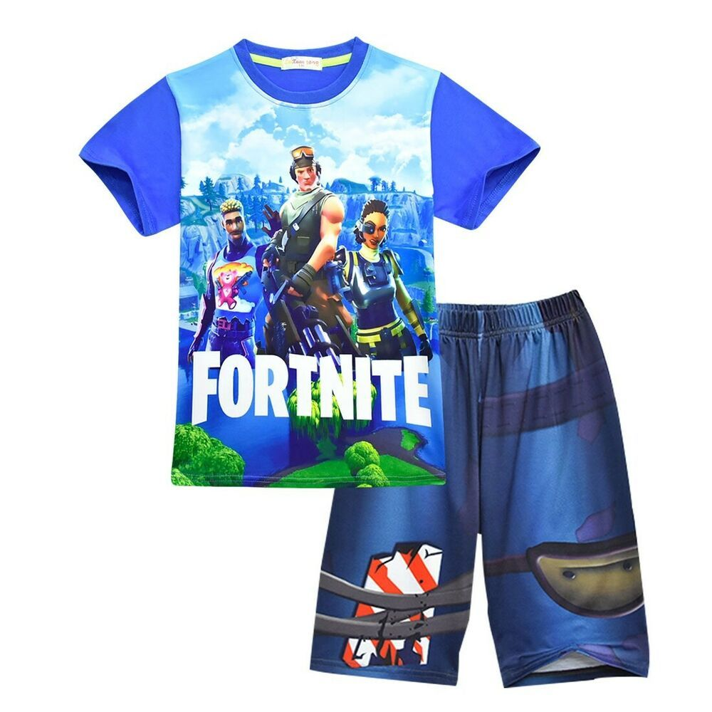 9441702d0bfb2 Fortnite Pajamas set Children's Sleepwear Girls Boys Kids Pyjamas ...