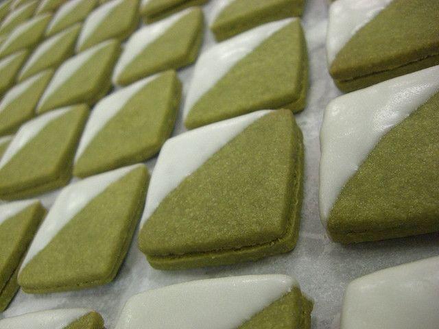 Green tea sandwich cookies!