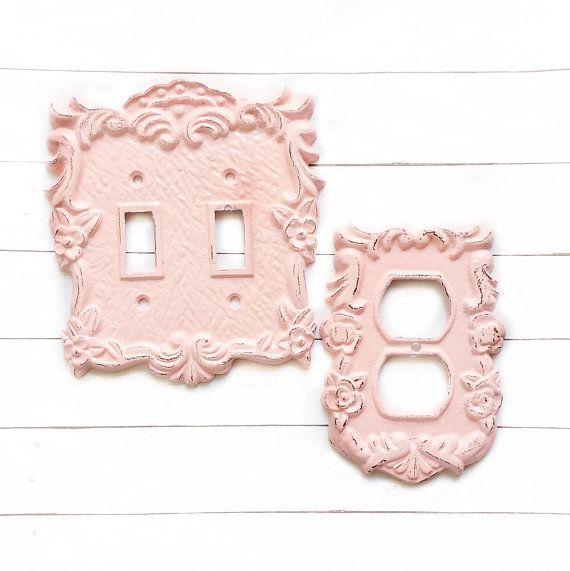 Light Switch Plate Shabby Chic Rose Decor Vintage