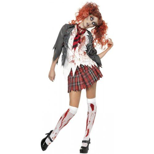 Explore Scary Halloween Costumes and more!  sc 1 st  Pinterest & High School Horror Zombie Schoolgirl Costume Large Dress Size 1416 ...