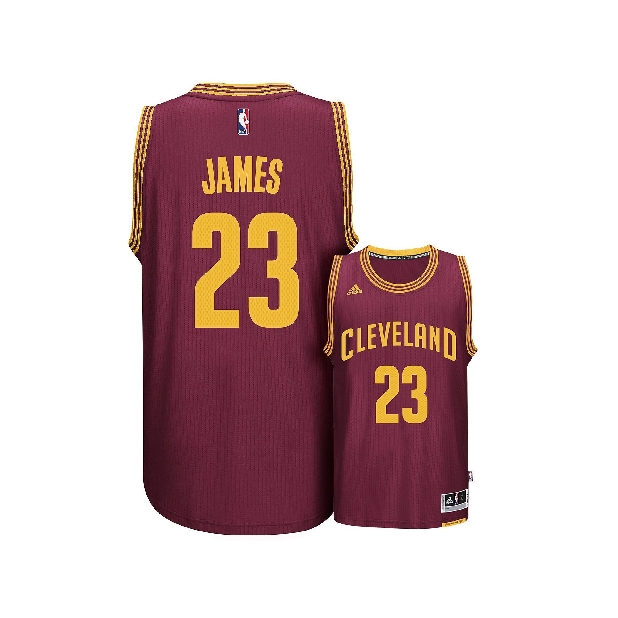 uk availability bf493 1ab83 Men's adidas Cleveland Cavaliers LeBron James Swingman NBA ...