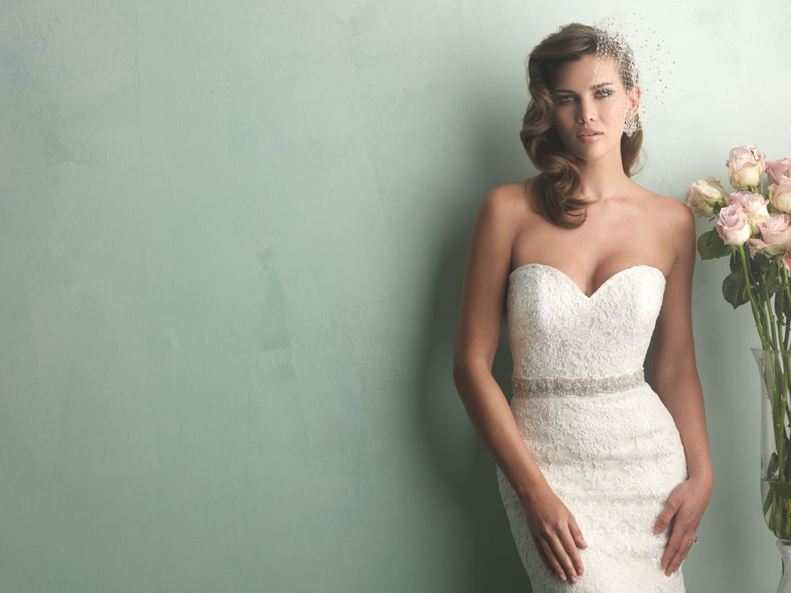 Allure Bridals 9157 - This gown is covered in lace appliqué and ...