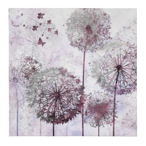 Wandbild pusteblume tannenholz leinwand folie for Pusteblume dekoration