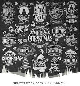 Christmas Calligraphy: Imágenes, fotos de stock y vectores