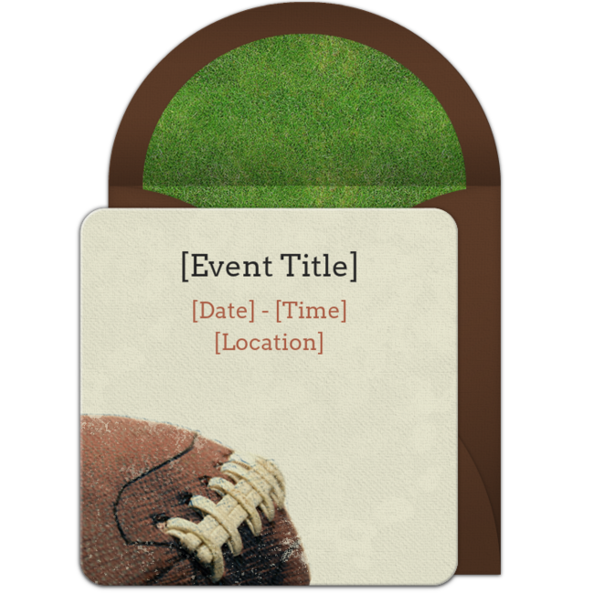 Free Football Laces Invitations Free football and Party invitations