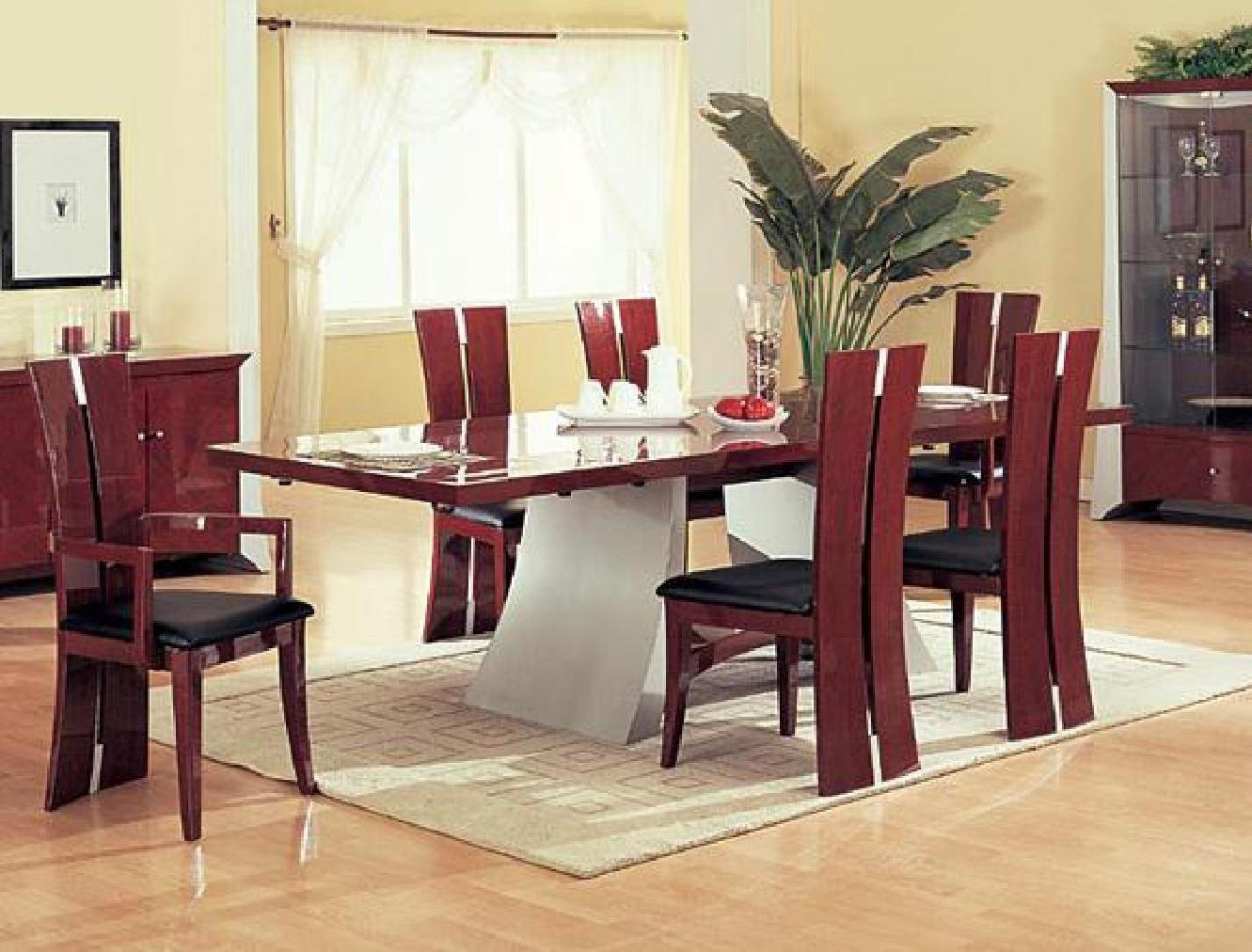 Comedores de madera modernos muebles modernos unids for Comedor de madera