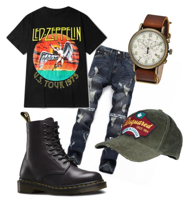 """Bad &Bouje"" by antoinetterobinson97 on Polyvore featuring Dr. Martens, Timex, Dsquared2, men's fashion and menswear"