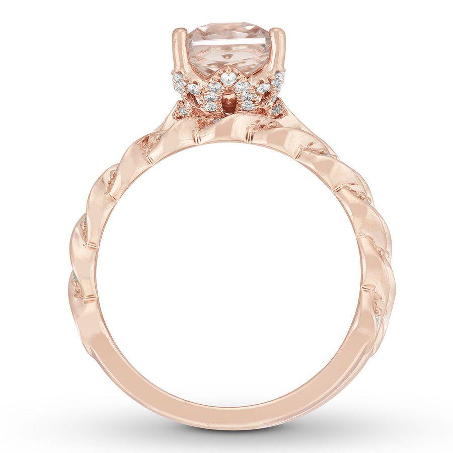 fce80e7de Neil Lane Morganite Bridal Set 3/8 ct tw Diamonds 14K Rose Gold - 940385500  - Kay