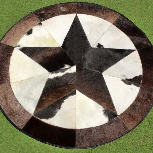 90 Cowhide Rug Leather Cow Hide Steer Patchwork Area