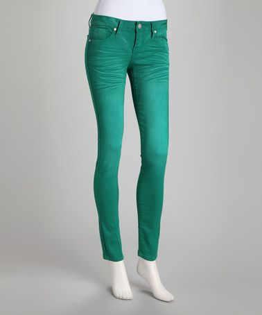 Take a look at this Green Whiskered Jeans by VIP Jeans on #zulily today!