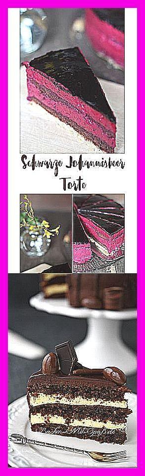 Photo of Pfirsich – Vanille – Torte –  Schwarze Johannisbeer Torte mit Schokobiskuit back…